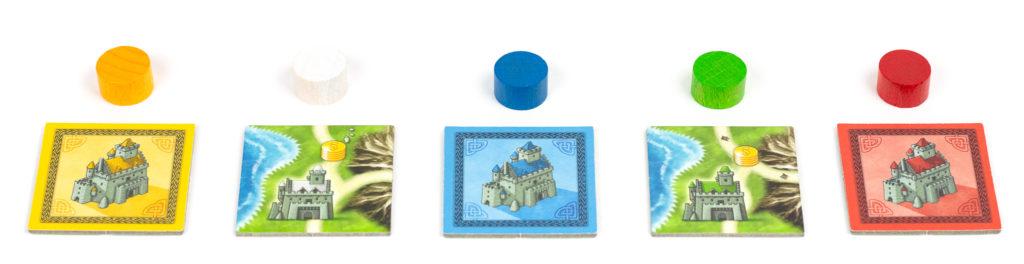 Kafelki startowe i znaczkini punktacji