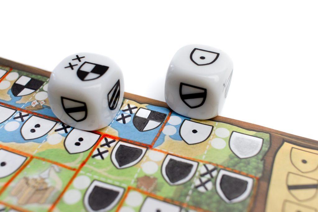 Kingdomino Duel - rysowanie pary kostek
